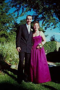 High school prom  pair